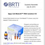 Quarterly Newsletter July 20, 2015 By BRTI Life Sciences
